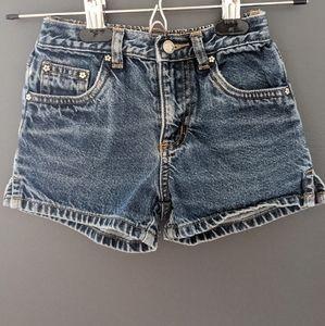 Denim blue jean shorts